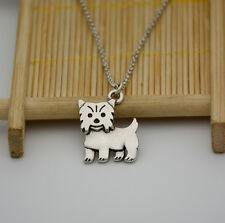 Small Yorkshire Terrier Canine Collection Silver Tone Fashion Pendant Necklace