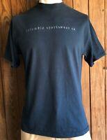 Columbia Sportswear Men's XL Tshirt Vintage 90's Blue Short Sleeve USA Made