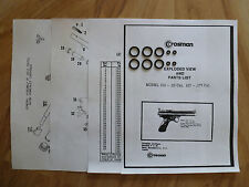 Crosman 150 157 Two (2) O-Ring Seal Kits + Exploded View + Parts List + Guide
