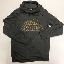 Star Wars Women Pullover Sweater Size Medium Gray Long Sleeve