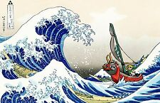 Zelda / Link Wind Waker Ship - Poster 30in x 20in - Fast Shipping - HIGH QUALITY