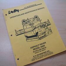 Leeboy Model 8500 Paver Owner Operator Operation Maintenance Manual Book Guide