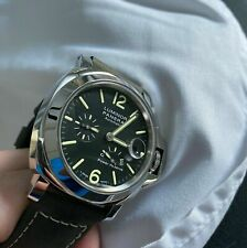 Panerai Luminor Black Dial Auto Leather 44mm Men's Watch PAM01090 power reserve