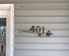 Custom Address Plaque FREE SHIPPING! Acorn Series: Sawtooth Oak Bar Brass