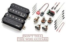 EMG Fat 55 Black Retro Active Standard Spaced Short Shaft Pots Humbucker Set