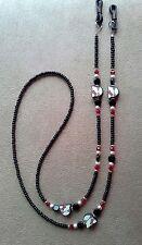 ! I Love My Kitty Handmade Beaded ! Eyeglass Chain ! Hello