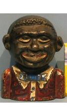 """BIG PRICE CUT 1900's ORIG OLD YOUNG """"N"""" BANK CAST IRON A PROUD OLD FELLOW  BK801"""