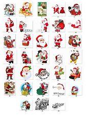 30 Personalized Return Address Christmas Santa Labels Buy 3 get 1 free (cs1)