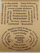 Fun NEW Scrapbook Mania Halloween Phrase Stickers Sheet Clear w/ Black Letters