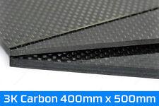 Carbon Platte 400mm x 500mm Hochglanz 0,5mm 1mm 2mm 3mm CFK Kohlefaser Plate 3K
