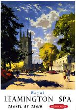 Art ad Royal Leamington Spa región Oeste Tren Ferrocarril viajar cartel impresión