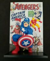 The Avengers 3D Comic Stanlee Loot Crate Exclusive 2019 Statue Captain America