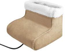 2 in 1 Electric Foot Feet Massager Warmer Heated Comfort Fleece Suede Gift