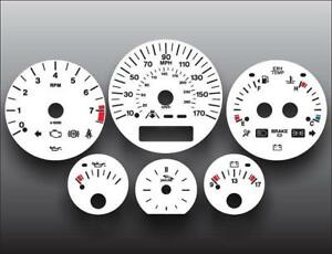 1998-2003 Jaguar XJ8 Instrument Cluster White Face Gauges