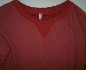 NWT Free People Movement AUTUMN SPICE Hi-Low Ribbed Sweatshirt Top M/L OVERSIZED