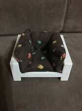 Fisher Price 1977 70's Vintage Brown Fabric Cushioned White Chair Leaves