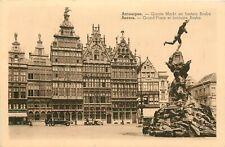Oude postkaart , zicht op de Grote Markt en Fontein Brabo in ANTWERPEN (PK2331)