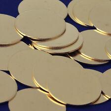 """20pcs about 1 1/8"""" tibetara Brass Round Stamping Blanks 18 Gauges DIY 10136350"""