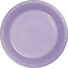 """Lavender 9"""" Plastic Plates 20 Per Pack Lavender Decorations & Party Supplies"""