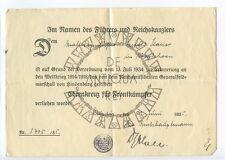 III Reich WW2 WK2 IIWW MILITARIA TEDESCA URKUNDE HEER PANZER XX WH KM HJ