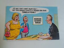 BAMFORTH Vintage Postcard Comic Series No 2037 MARRIAGE GUIDANCE SEX FREQUENCY