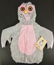 Candy Corn Lane Girls Owl Costume Halloween Padded Hooded Vest Size 18 Months