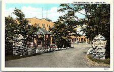 Postcard PA Mt. Pocono The Meadowside Stones Entrance Driveway J9