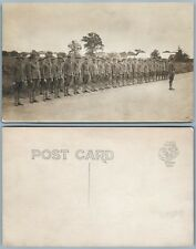 AMERICAN MILITARY WWI ERA ANTIQUE REAL PHOTO POSTCARD RPPC