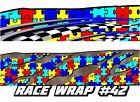 Race Car Graphics 42 Autism Awareness Wrap Vinyl Decal Imca Late Model Dirt