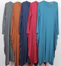 New Ladies Unusual Draped Sides Italian Lagenlook Boho Quirky Soft Jersey Dress