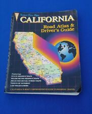 1988 California Road Atlas & Driver's Guide Thomas Bros. w/Orig Fold Out Map
