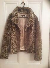 Fabulous Miso faux fur jacket, size 10, leopards print, Stunning!