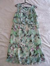 Sara 20 2X Green Chiffon Summer Dress