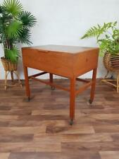 More details for vintage 60's teak sewing craft box table retro mid century