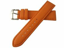 22mm Hadley Roma Lorica Men's Vegan Leather Dive Watch Band Strap Orange MS739