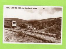Laxey Wheel Manx Electric Railway IOM Snaefell Summit Cachet RP pc  Ref D269