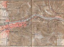 1889 ANTIQUE MAP HEIDELBERG & ENVIRONS