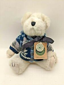 "Boyds Bear Thor M. Berriman Plush White Bear Blue Eyes 11"" H Retired 1998 Tags"