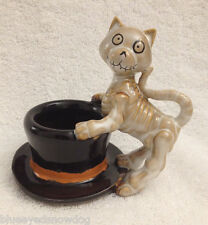 Yankee Candle Boney Bunch 2012 Boney Cat w/Hat  ~ NIB ~ SOLD OUT