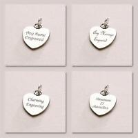 Heart Charm Personalised  With Any Engraving Lovely Jewellery Gift UK