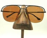Vintage Charmant 4319 Gray Marble Half-Rimmed Aviator Sunglasses Frames Japan