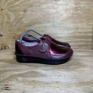 Alegria Dixi Syrah Leather Clogs, Women's size 9 / EU 39, Red