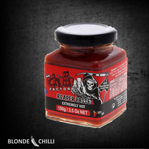 THE CHILLI FACTORY Carolina Reaper Paste EXTREMELY HOT world's hottest chilli