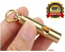 Outdoor Survival Whistle/ Referee with Key-chain Loudest Whistle Pure Brass