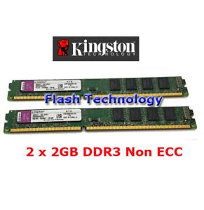 (2x2GB) 4GB Kingston DDR3 PC3-8500 PC Computer Memory RAM KVR1066D3N7 Bargain
