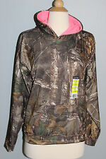 New REALTREE Xtra Camo Hoodie Youth Girl's Sizes M L XL Pink Hooded Sweatshirt