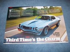 "1977 Chevy Camaro Z/28 Article ""Third Times a Charm"""
