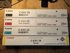 TONER CANON C-EXV29 C-EXV 29 KIT 4 COLORI - ORIGINALI NUOVI IMBALLATI