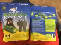 2 Ark Naturals Brushless Toothpaste Dogs 18oz Large Size 40lb + Free Shipping