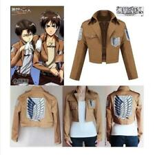 Attack on Titan Shingeki no Kyojin Scouting Legion Cosplay Costume Jacket Coat J